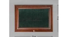 Настенные витрины для домашней коллекции / 70см х 50см зелёный фон без подсветки [п-42]