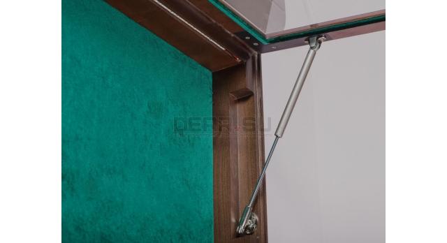 Настенные витрины для домашней коллекции / 151см х 76см зелёный фон с подсветкой [п-124]
