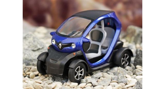 Машина Kinsmart Twizy инерция (1/12шт.) 12,5см б/к 2