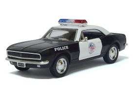 Машина Kinsmart 1:40 Chevrolet Camaro Police инерция (1/12шт.) б/к
