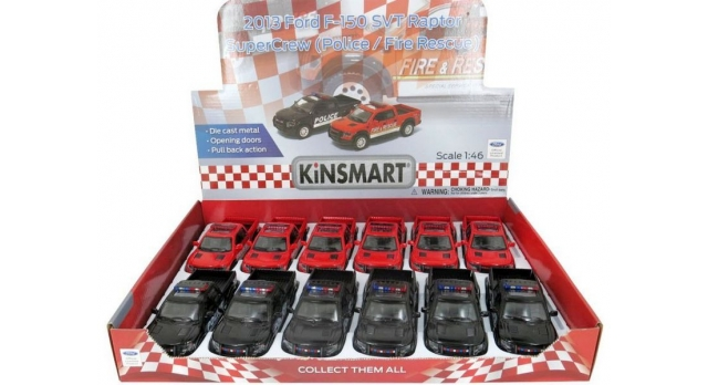 Машина Kinsmart 1:40 Ford F-150 Police Fire Rescue в асс. инерция (1/12шт.) б/к 2