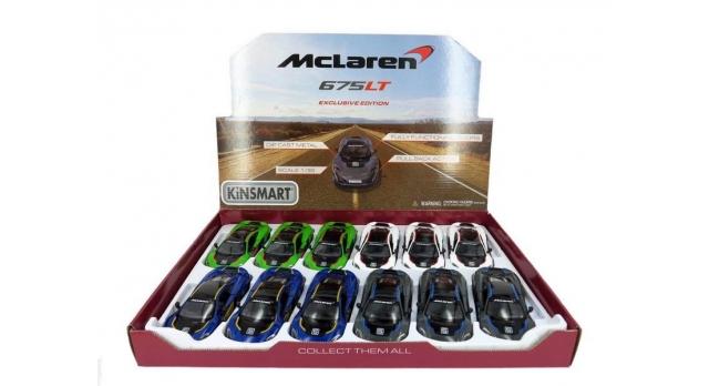 Машина Kinsmart 1:36 McLaren 675LT, инерция (1/12шт.) б/к 9
