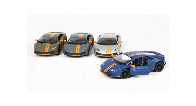 Машина Kinsmart 1:38 Lamborghini Huracan LP610-4 Avio Matte, инерция (1/12шт.) б/к 3