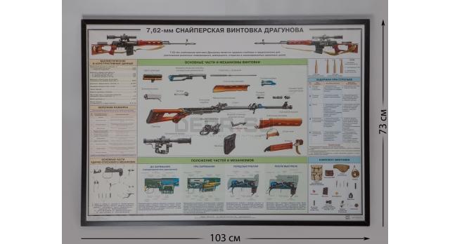 """Плакат в раме """"7,62-мм снайперская винтовка Драгунова"""""""