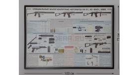 """Плакат в раме """"Специальные малогабаритные автоматы 9А-91, АС ВАЛ, АММ"""""""