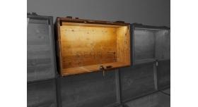 Витрина на основе советского армейского ящика / С подсветкой 79х51х28 настенная витрина с дверцей вверх [ящ-14]