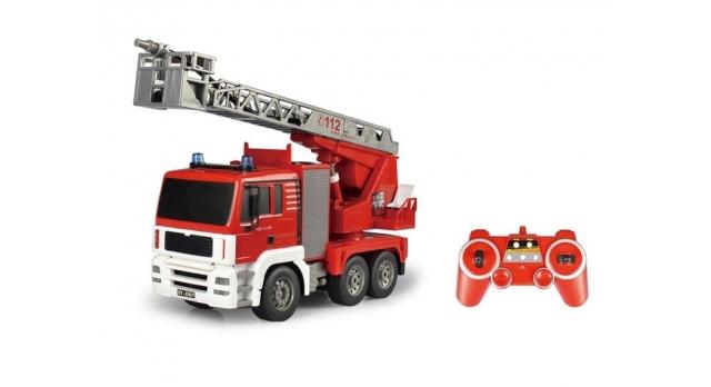 Р/У пожарная машина Double Eagle, брызгает водой 1:20 3