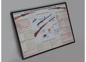"""Плакат в раме """"7,62 мм кавалерийский карабин образца 1938 г."""""""