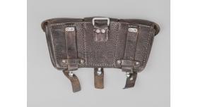Подсумок для Mauser 98k / Оригинал коричневая кожа Joseph Moll 1938 г. 2 перегородки [сн-211]
