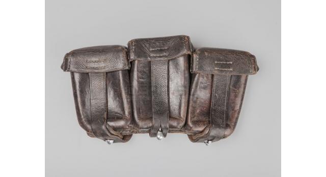 Подсумок для Mauser 98k / Оригинал коричневая кожа Rahm&Kampmann 1938 г. 3 перегородки [сн-211/1]