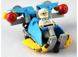 Конструктор CaDA Technic звездный отряд, соберите звездный корабль с C54002W+03W+04W (94 детали) 1