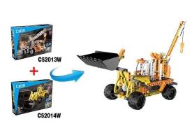 Конструктор CaDA Technic бульдозер совместим с C52013W, инерционный (213 детали) 1