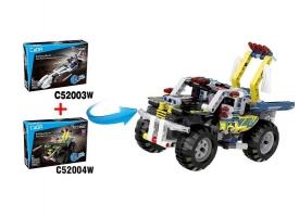 Конструктор CaDA Technic квадроцикл совместим с C52003W, инерционный (164 детали) 1