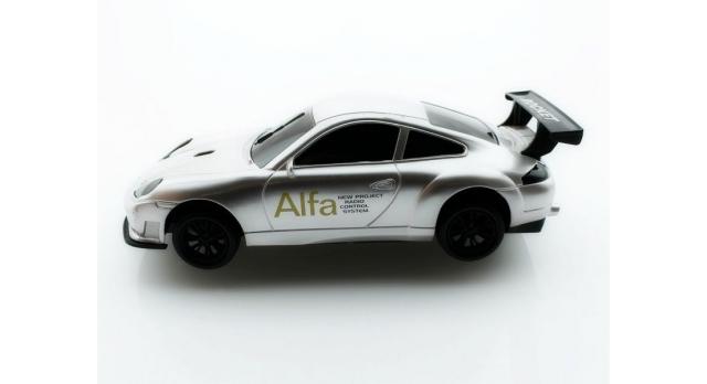 Р/У спортивная машина Porshe Carrera в ассортименте 1/18 + свет 2