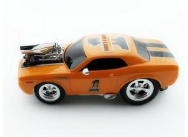 Р/У машина из серии &quotMuscle Сar&quot с гоночным Мотором 1/16 + свет + звук желтая 1
