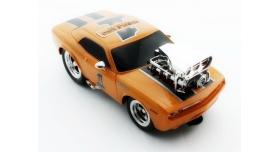 Р/У машина из серии &quotMuscle Сar&quot с гоночным Мотором 1/16 + свет + звук желтая 4