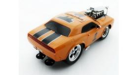 Р/У машина из серии &quotMuscle Сar&quot с гоночным Мотором 1/16 + свет + звук желтая 6