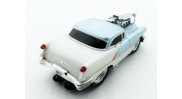 Р/У машина из серии &quotMuscle Сar&quot с гоночным Мотором 1/16 + свет + звук голубая 6
