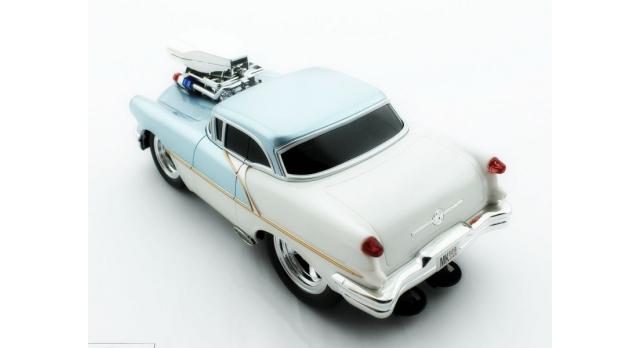 Р/У машина из серии &quotMuscle Сar&quot с гоночным Мотором 1/16 + свет + звук голубая 8