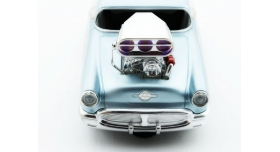 Р/У машина из серии &quotMuscle Сar&quot с гоночным Мотором 1/16 + свет + звук голубая 10