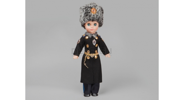 Сувенирная кукла «ФСБ» / Подполковник с револьвером Наган [п-130-1]