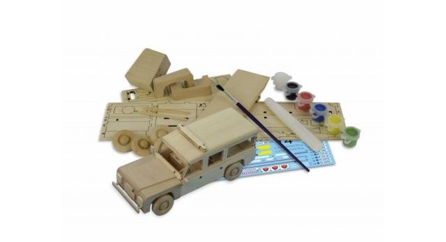 Сборная деревянная модель автомобиля Artesania Latina Land Rover ПОЛИЦИЯ 9