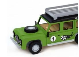 Собранная деревянная модель автомобиля Artesania Latina Land Rover МОТОГОНЩИК BUILD 1