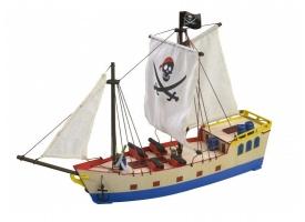 Собранная деревянная модель корабля Artesania Latina PIRATE SHIP BUILT