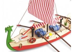 Собранная деревянная модель корабля Artesania Latina DRAKKAR (VIKING BOAT) BUILT 1