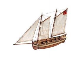 Сборная деревянная модель шлюпки корабля Artesania Latina ENDEAVOUR, 1/50