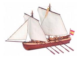 Сборная деревянная модель капитанской шлюпки корабля Artesania Latina SANTISIMA TRINIDAD, 1/50