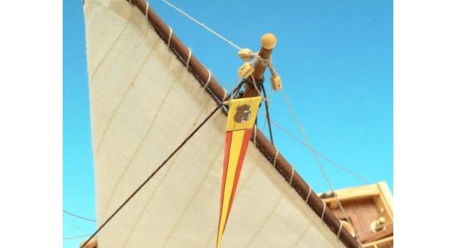 Сборная деревянная модель капитанской шлюпки корабля Artesania Latina SANTISIMA TRINIDAD, 1/50 6