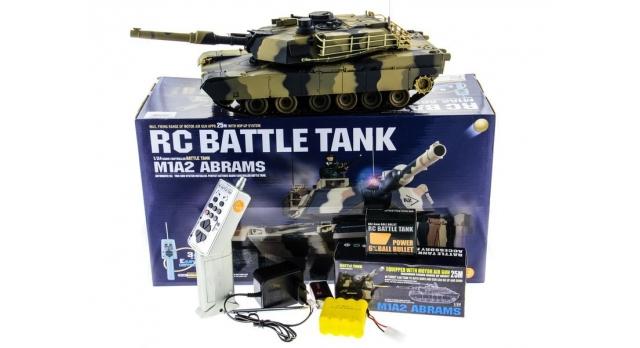 Р/У танк Heng Long 1/24 Battle M1A1 ABRAMS, стреляет шариками, RTR 10