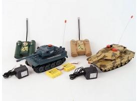 Р/У танковый бой Huan Qi 1:32 IV Tiger vs Leopard 2A5, 2.4G 1