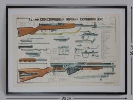 4292 Плакат в раме «7.62-мм самозарядный карабин Симонова (СКС)»