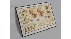 Плакаты в раме «Ручные гранаты» / Плакат в раме «Метание ручных гранат» [л-163]