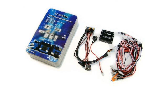 Система освещения 4-канальная светодиодная G.T.Power с блоком управления 1