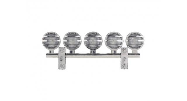 Передние светодиодные прожекторы на кузов для краулеров 1/10, серебристый 3