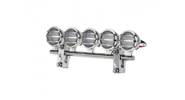 Передние светодиодные прожекторы на кузов для краулеров 1/10, серебристый 4