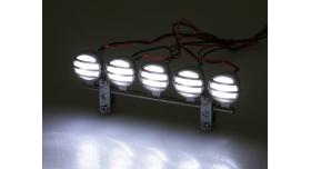 Передние светодиодные прожекторы на кузов для краулеров 1/10, серебристый 7