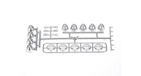 Передние светодиодные прожекторы на кузов для краулеров 1/10, серебристый 9