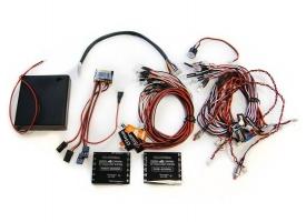 Профессиональное освещение G.T.Power с двумя контроллерами и управлением через Bluetooth для радиоуправляемых грузовиков