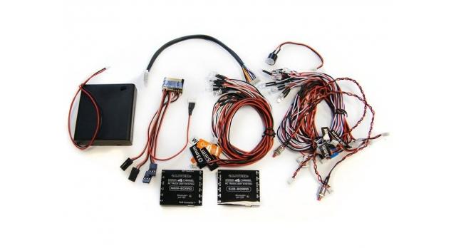Профессиональное освещение G.T.Power с двумя контроллерами и управлением через Bluetooth для радиоуправляемых грузовиков 1