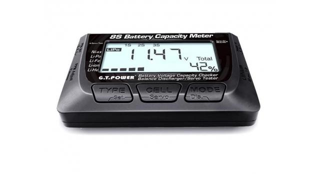 Измеритель емкости Li-Po аккумуляторов 8S G.T.Power 3