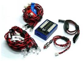 Комплект освещения G.T.Power (12 светодиодов, 4 режима) с блоком управления