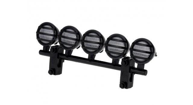 Передние светодиодные прожекторы на кузов для краулеров 1/10, черный 1