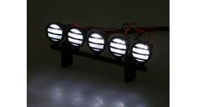 Передние светодиодные прожекторы на кузов для краулеров 1/10, черный 4