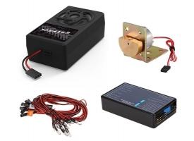 Система освещения G.T.Power со звуковым и вибрационным модулем для радиоуправляемых грузовиков