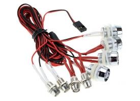 Комплект подсветки G.T.Power L8 (8 светодиодов) для радиоуправляемых автомоделей