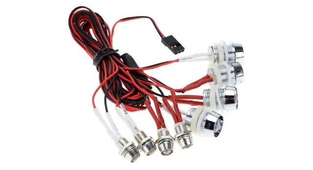 Комплект подсветки G.T.Power L8 (8 светодиодов) для радиоуправляемых автомоделей 1
